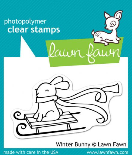 LF0327 S ~ WINTER BUNNY ~  CLEAR STAMPS BY LAWN FAWN